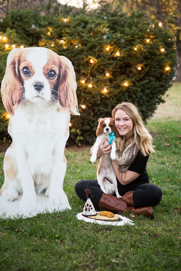 © Capture Photography by Kayla Stallbaumer |birthday party for dog, 4 ft photo cutout of dog