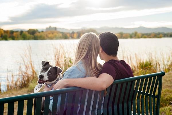 © Denver Paws Photography | Denver engagement photos with dog
