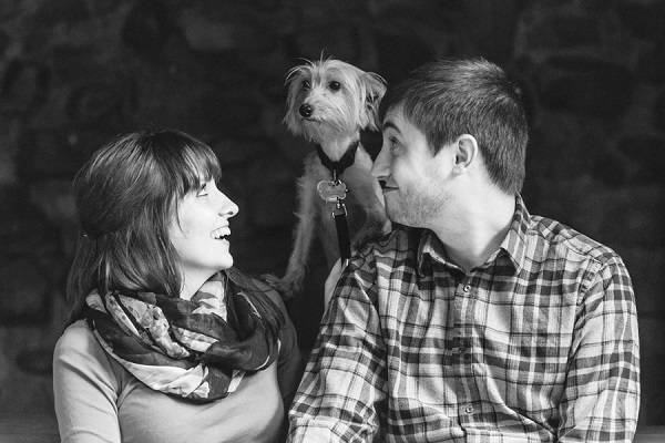 © Maria Sharp Photography | engagement-photos-with-dog,