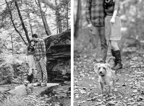 © Maria Sharp Photography | Engagement-photos-with-small-dog, on-location-pet-photography