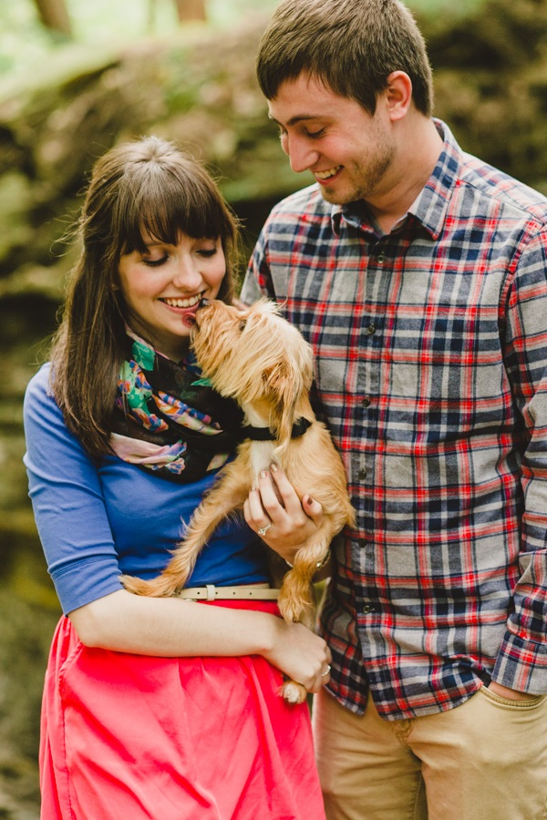 © Maria Sharp Photography |Autumn Cuyahoga Valley National Park engagement session with dog