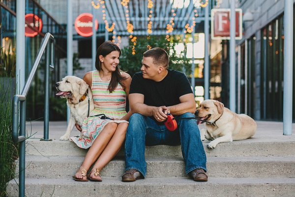 © Mercedes Morgan Photography | Austin anniversary photo shoot complete with dogs