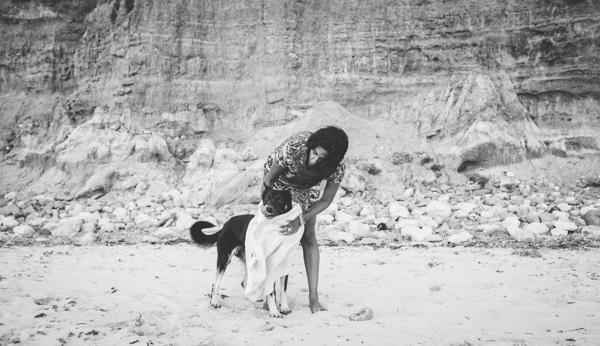 © Bitsa Bernard Photography | drying off, dog's day at beach, Adelaide pet photography