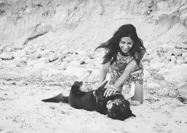 © Bitsa Bernard Photography | Girl and her dog, Adelaide pet photography, beach days are the best