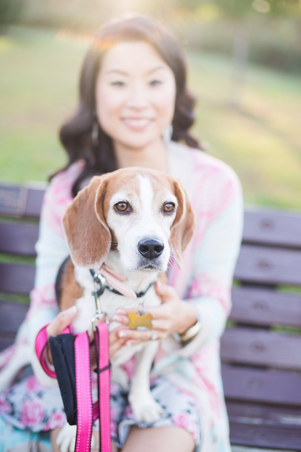 ©  Brooke Tyson Photography | engagement-photos-dog, beautiful woman, beagle