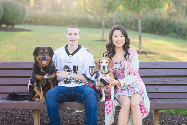 © Brooke Tyson Photography | Park Engagement session dogs, engagement-photos-with-dogs