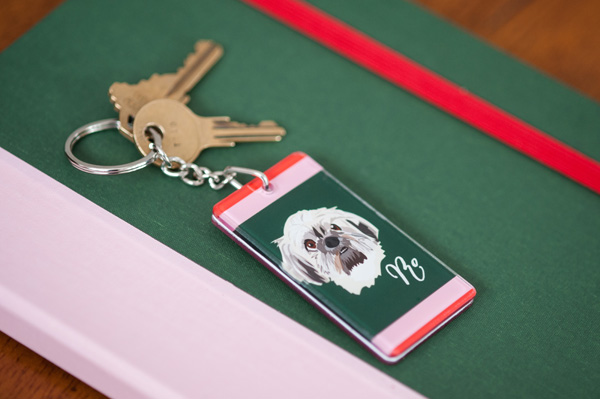 © Alice G Patterson Photography | product photography, Noble-Friends-Custom-Pet-Portraits-Illustrations-personalized key chain