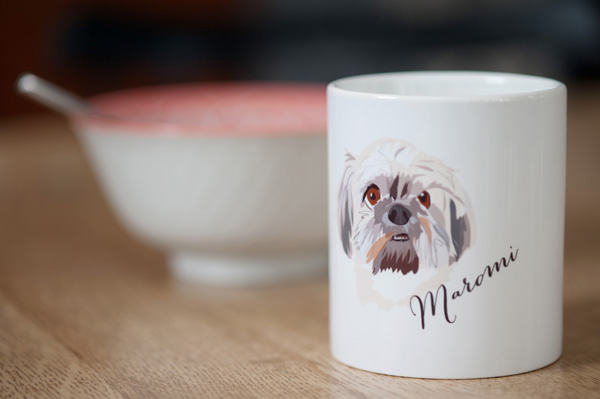 © Alice G Patterson Photography | Syracuse product-photographer, Noble-Friends-Custom-Pet-Portraits-Illustrations-personalized-mug