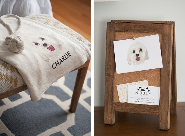 © Alice G Patterson Photography | customized-blankets, stationery with personalized pet illustrations