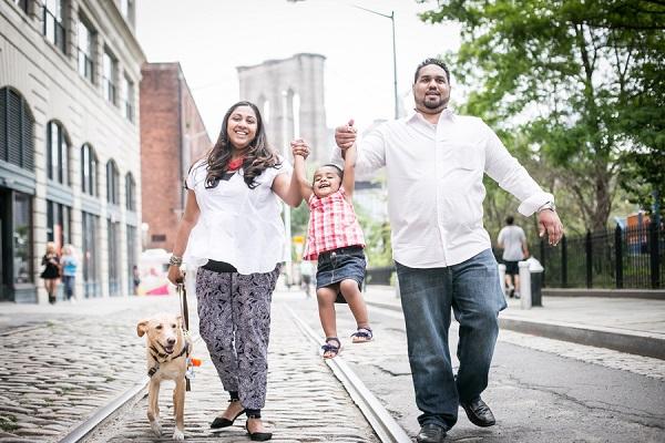 © Priyanca Rao Photography   Brooklyn family pet photography,  dog, family portraits in DUMBO