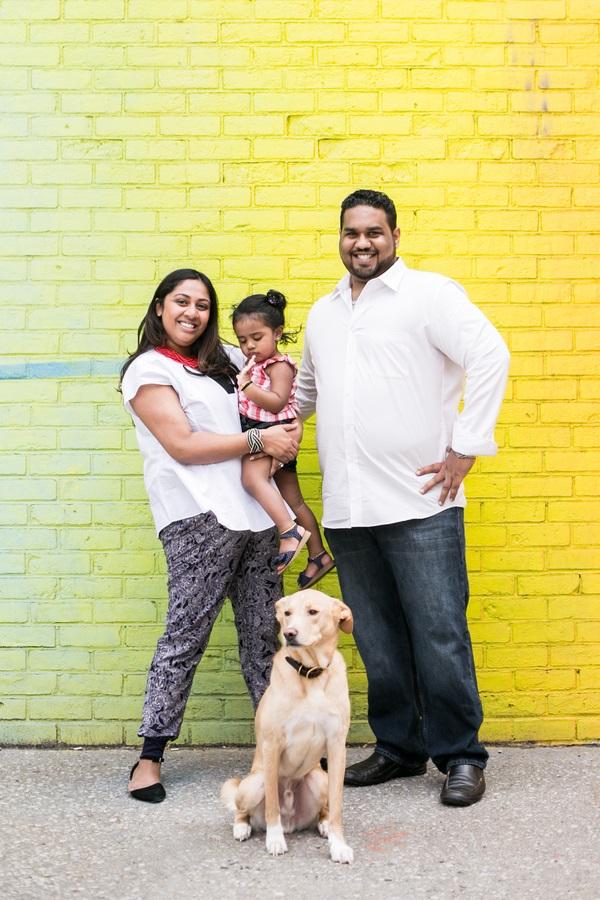 © Priyanca Rao Photography   Brooklyn- family-pet-photography, rescue-dog, family portraits, yellow wall