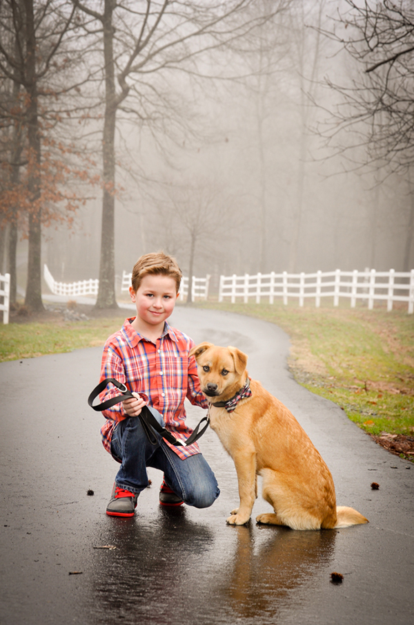 boy and his dog, family dog lifestyle photography