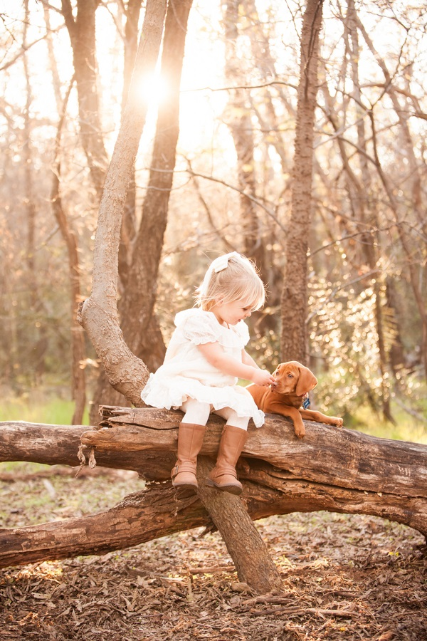 girl-and-her-dog, Vizsla-puppy, Oklahoma-family-photos, little-girl-puppy,  little girl Vizsla puppy