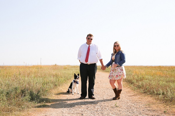 © Jamie K Photography | engagement photography session with Border Collie, Kansas lifestyle photography