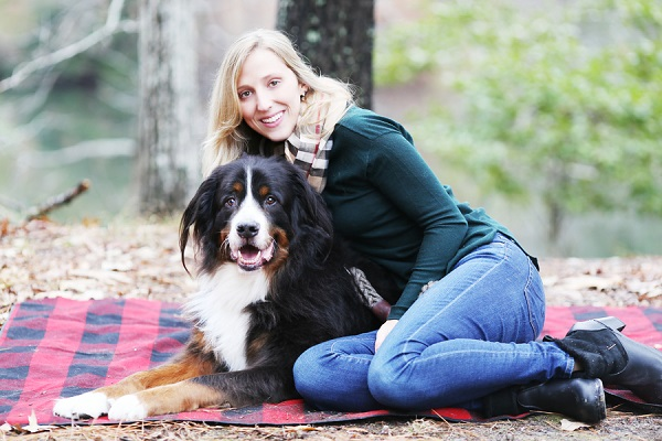 © Lindsay Collette Photography  |girl-and-her-dog, on-location-dog-photography, handsome Bernese Mountain Dog