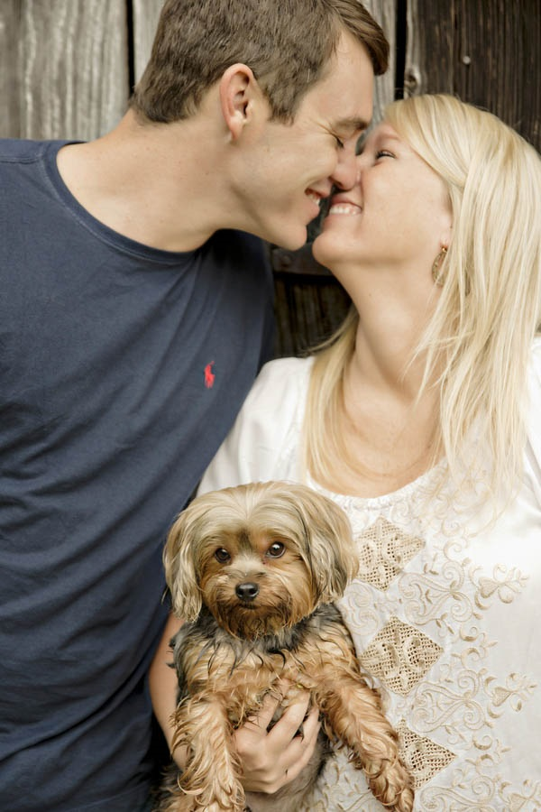 © Andie Freeman Photography | country-engagement-photos-with-Yorkie-mix, GA-lifestyle-pet-photography