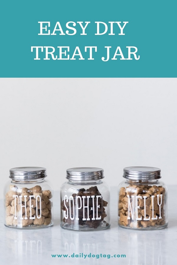 cute and easy treat jar, perfect to keep or give to your favorite dog mom