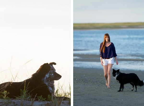 © Lydia Leclair Photography | Girl-dog-on-beach, Border-Collie-Cape-Cod