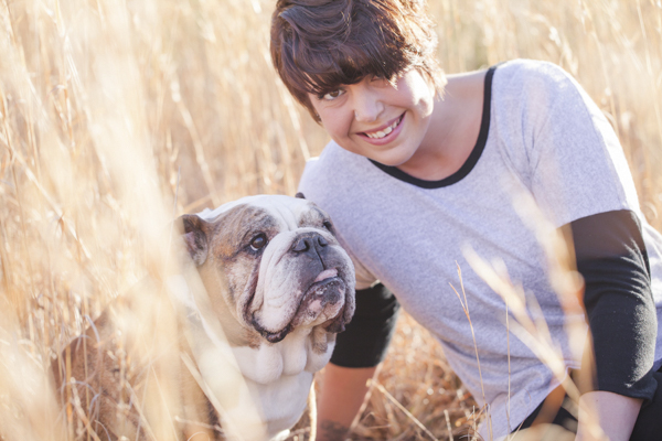 © Casey Hendrickson Photography | View More: http://caseyhphotos.pass.us/brittanyandmojo, sweet English Bulldog and woman in field,