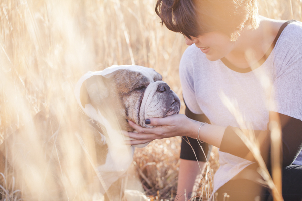 © Casey Hendrickson Photography |  girl and her dog in field, View More: http://caseyhphotos.pass.us/brittanyandmojo