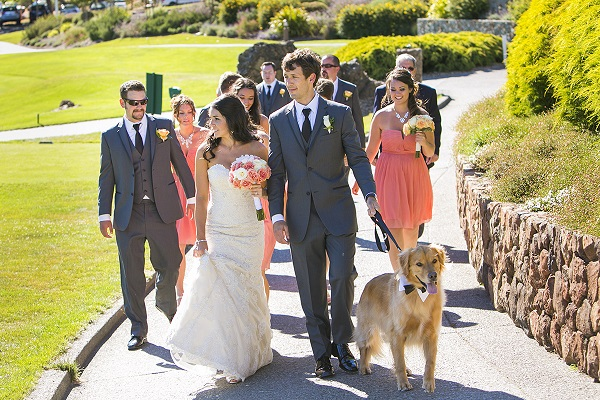 © Jules Bianchi Photography | Golden-Retriever, bridal-party, CA-wedding-photographer