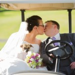 Brittany-Anderson-Photography-small brown white dog golf cart with bride-and-groom