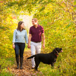 couple-walking-Black-Lab, Syracuse-dog-photography