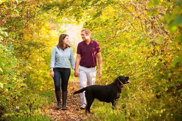 © Alice G Patterson Photography | Syracuse-dog-photography, couple-walking-Black-Lab, Syracuse-dog-photography