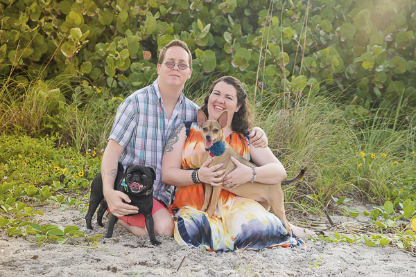 © Enduring Impressions Photography | engagement photo session at beach with dogs
