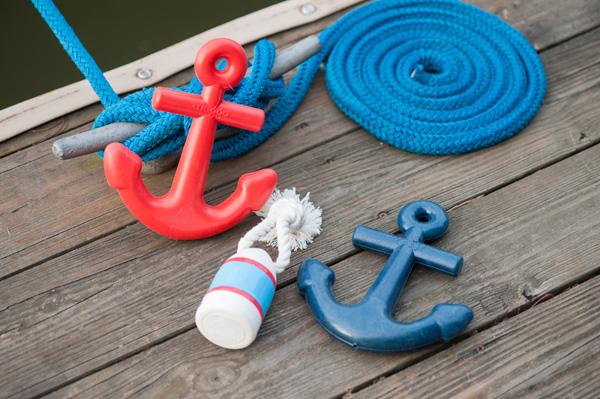 Syracuse-product-photographer, red- blue- nautical -dog-toys, anchor, buoy, Waggo
