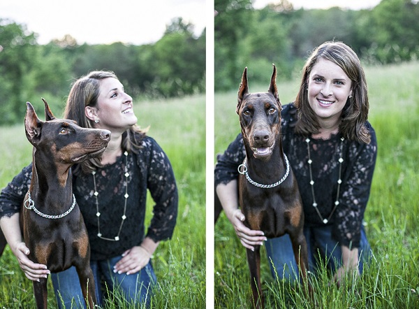 © Paw Prints - Custom Pet Portraits by Charlene  | Doberman and woman, lifestyle-dog-human-photography