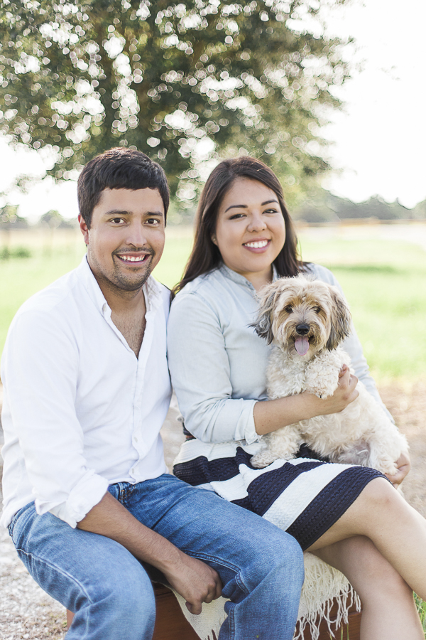 © Photography by Neswick | Including dogs in engagement session, posing dog and couple