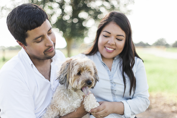 © Photography by Neswick | Engagement photos with small dog, on location pet photography