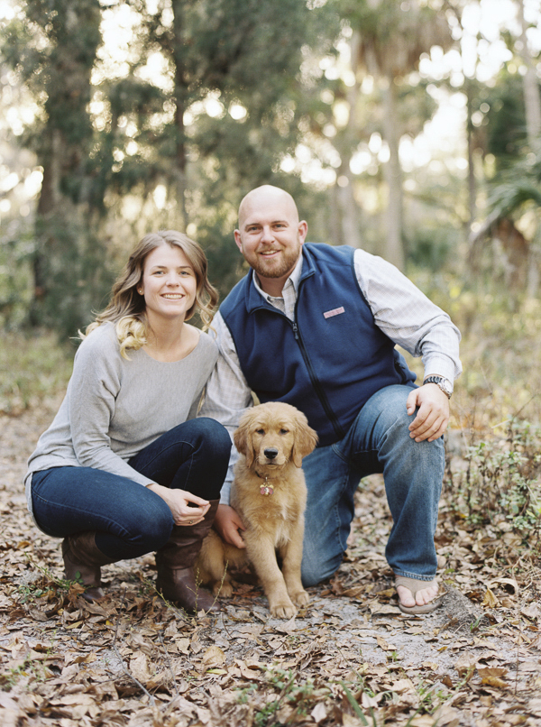 © Emily Katherine Photography | Phillipe Park engagement photos with puppy, puppy in engagement photoshoot