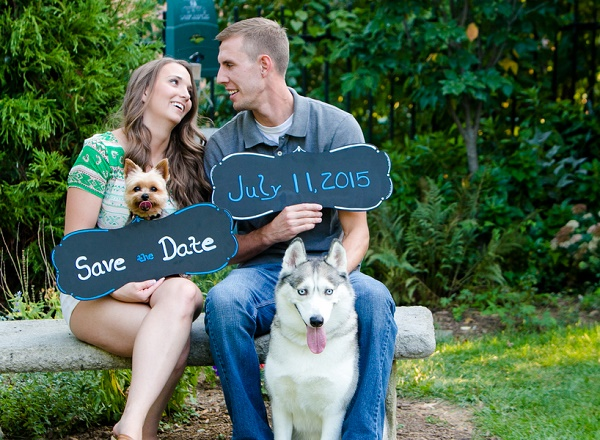 © Photography by Marirosa | Save the date photos with dogs, Silky and Husky engagement photos