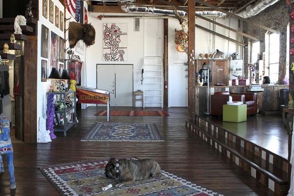 © Bethany Nauert | Antonio Ballatore, dogs on furniture, English Bulldog, interior design photography