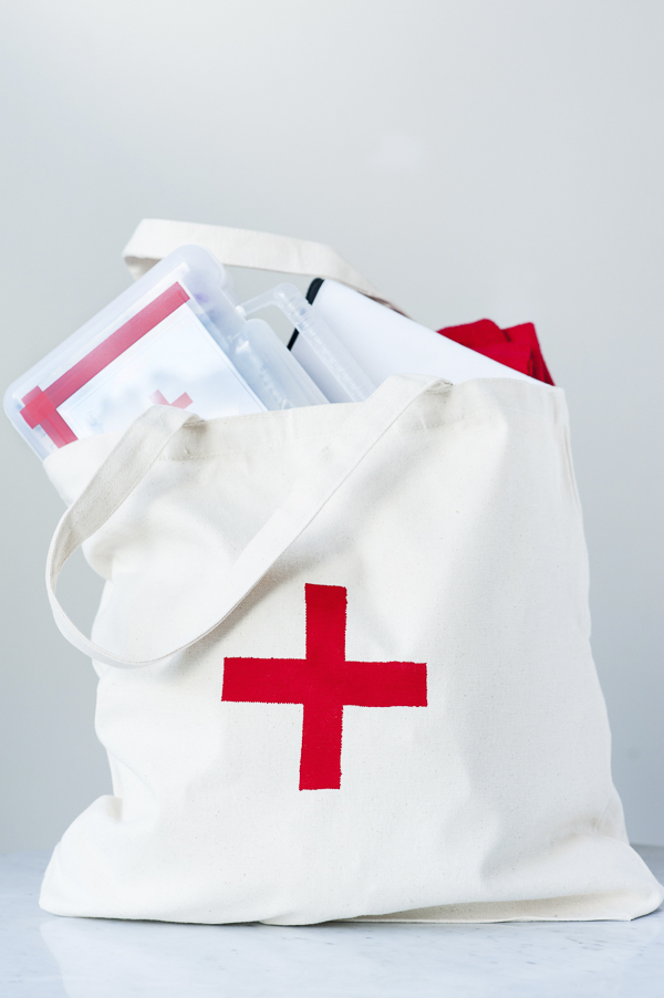 dog first aid tote bag, all you need for pet first aid,