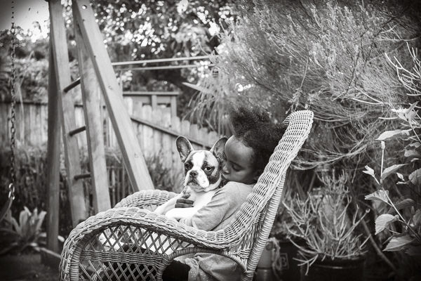 © Mara Casey Shoots | French Bulldog, little girl holding Frenchie, child and pet photography