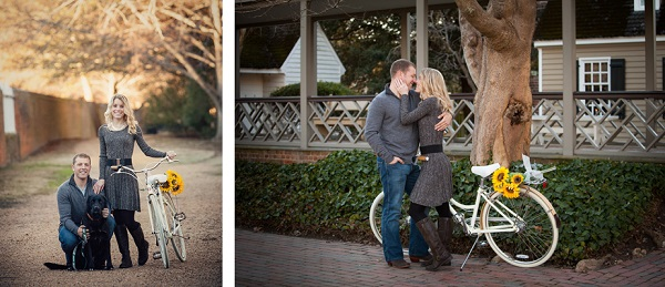 © Imagine It Photography | engagement photos, dog, bike