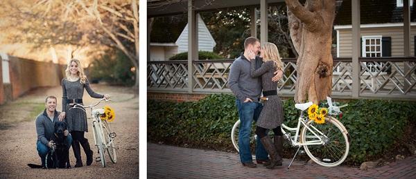 © Imagine It Photography | engagement photos, dog, bike