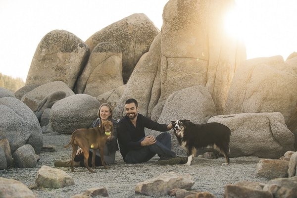 © Lauren Lindley Photography | beach maternity session with dogs, Zephyr Cove, NV