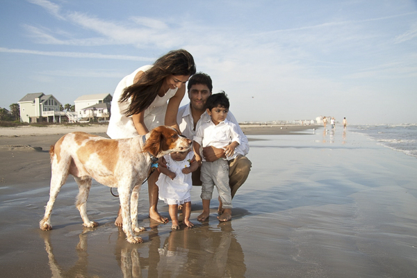 © Degrees North Images | beach dog, Galveston Island family portraits