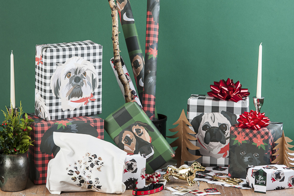 Gift ideas for dog lovers, personalized gift wrap,