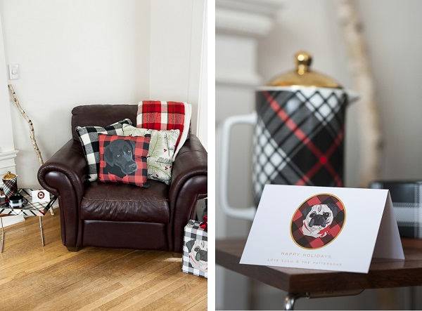 throw pillows, mad for plaid dog gifts