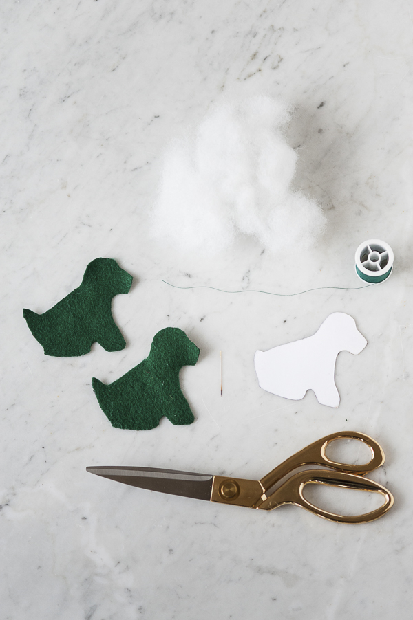 DIY Dog themed felt ornaments-15