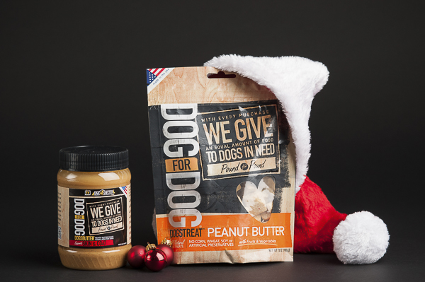 TractorSupply Holiday Gifts forshelter dogs, Dog For Dog, peanut butter, treats for dogs, companies with compassion, pet product photography