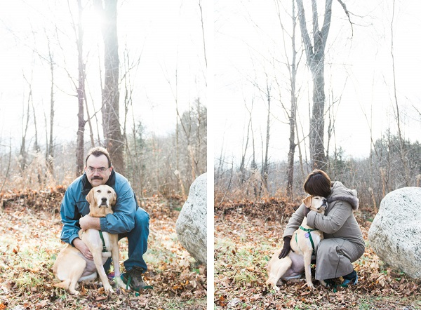 © Elska Productions | owners hug dog with canine cancer