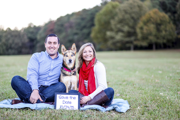 Save the Date photos with dog