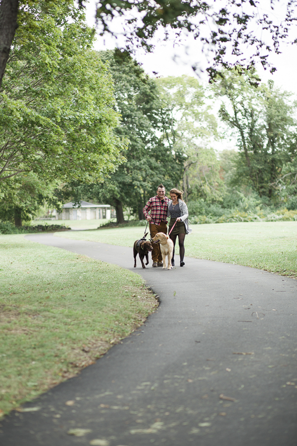 © Tiffany Joyce Photography | walking dogs Colt State Park, on location couple photography