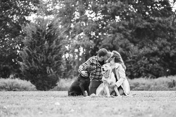 © Tiffany Joyce Photography | couple, dogs, family portraits, timeless family photo